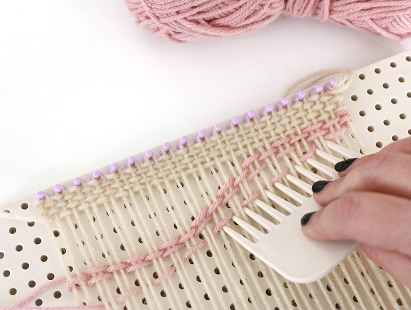 curve rows diy woven bag