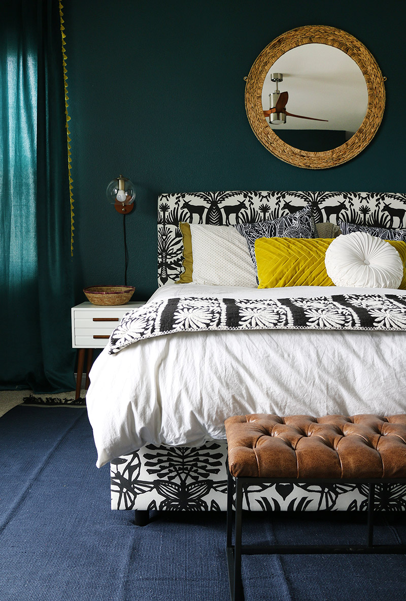 Dark Teal Bedroom Reveal - Persia Lou