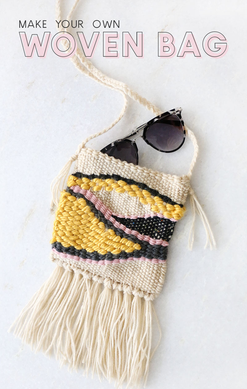 make your own diy woven bag