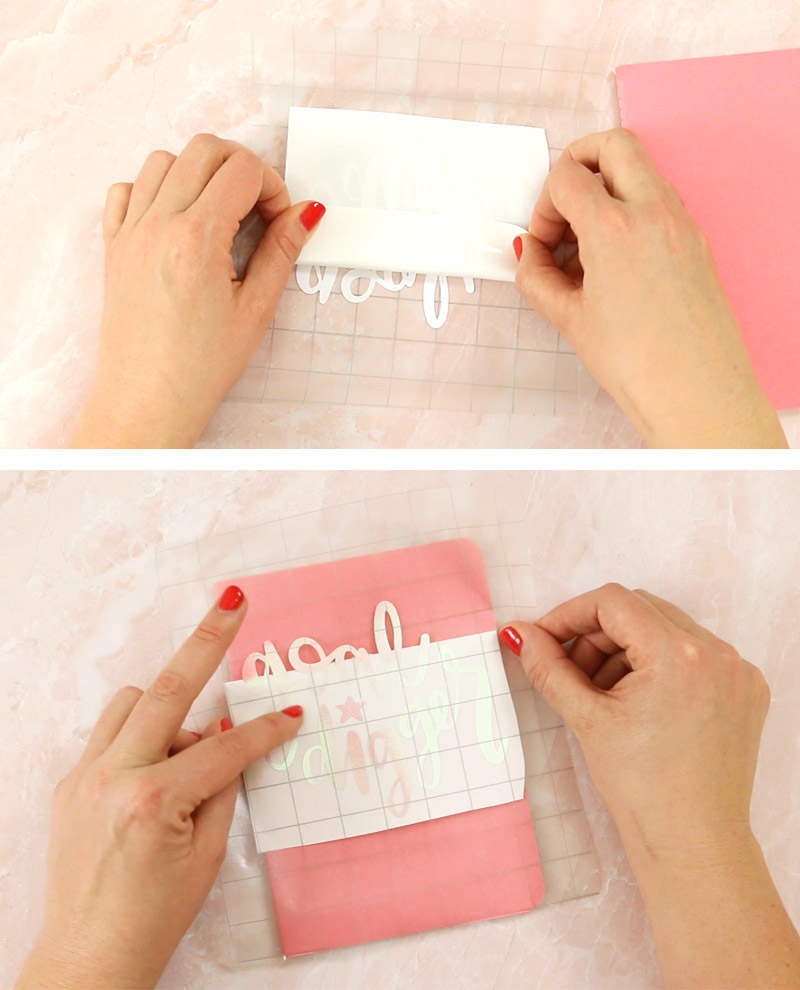 transfer tape tip - fold back paper backing