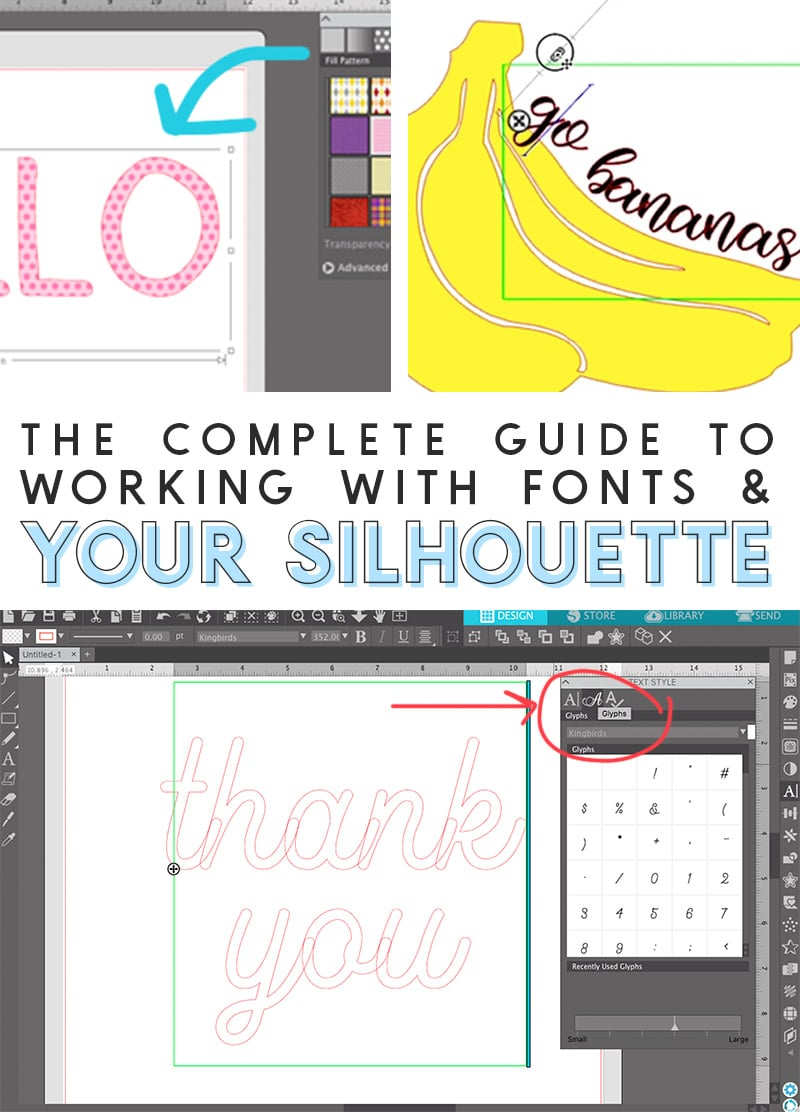 how to work with fonts and the silhouette