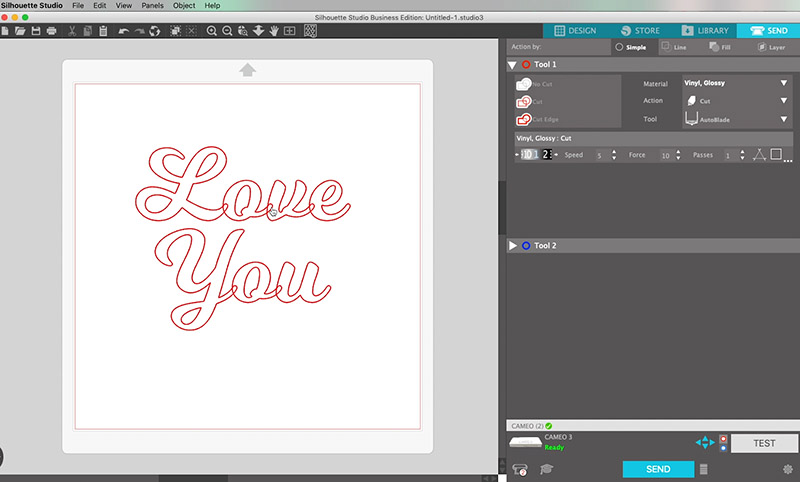 how to use script or cursive fonts in silhouette studio