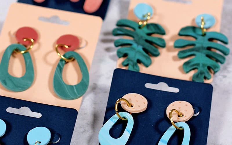 How to Cut and Emboss Clay with Silhouette Curio: DIY Clay Earrings