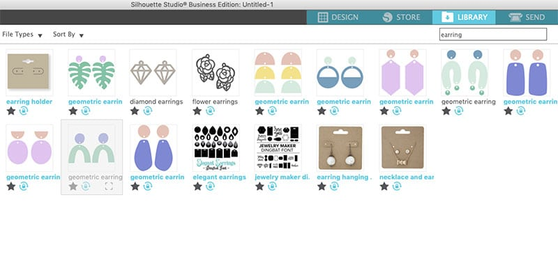 design store earring designs