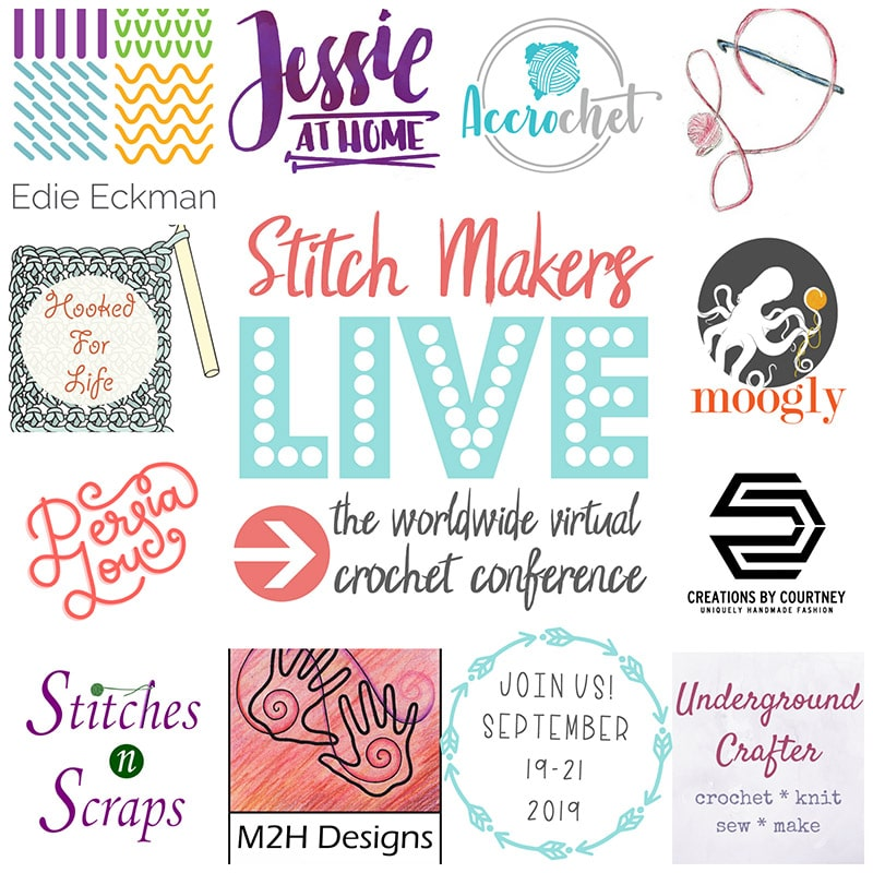 stitch makers live crochet conference instructor logos