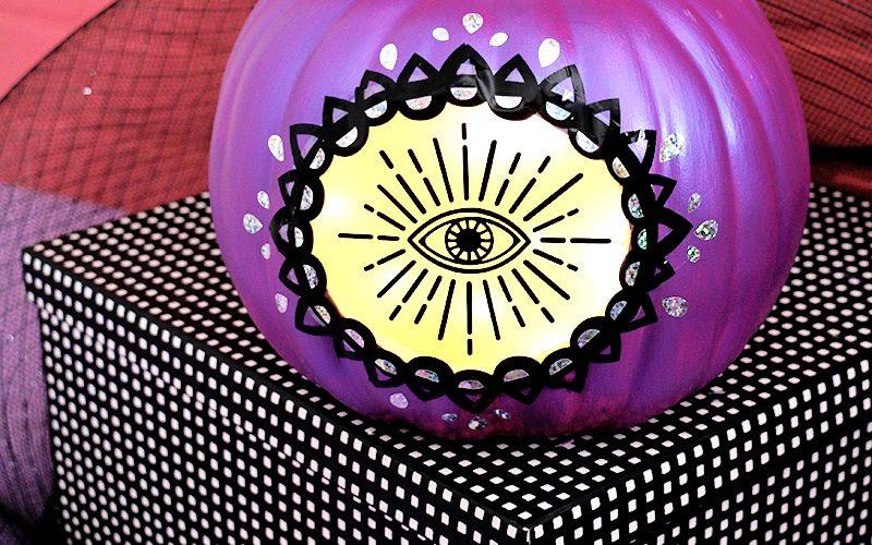 DIY Glowing Mystic Eye Pumpkin with Free Cut Files