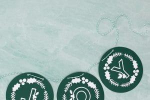 Free Winter Monogram SVG Cut Files