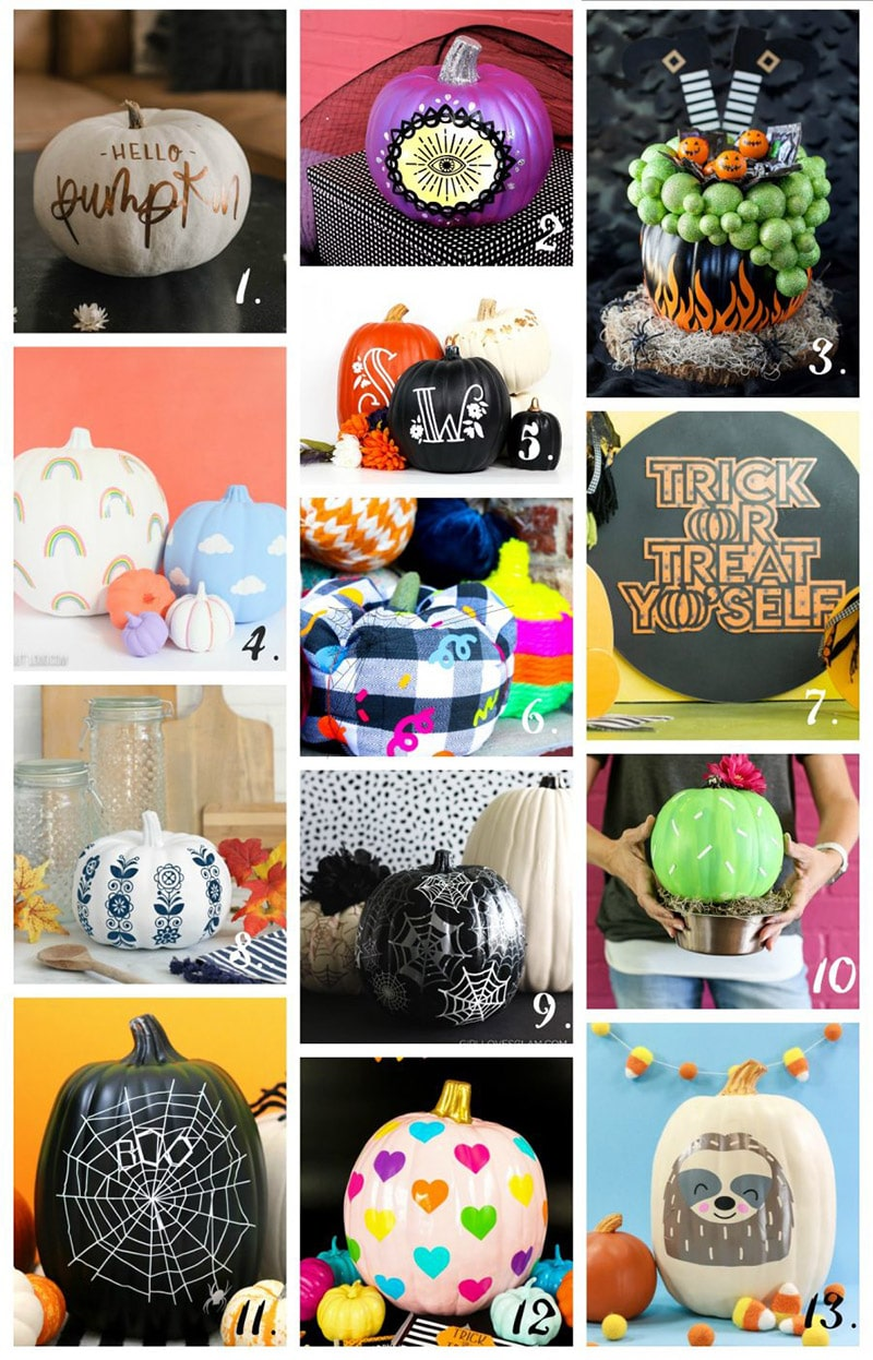 DIY Vinyl Pumpkin Crafts