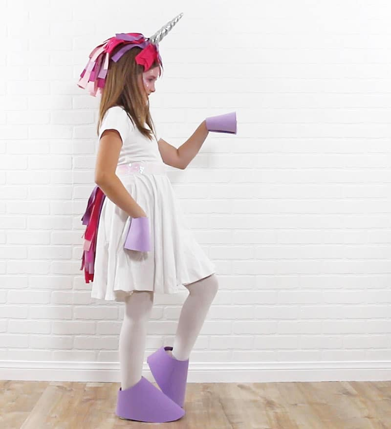 easy no sew unicorn kids costume