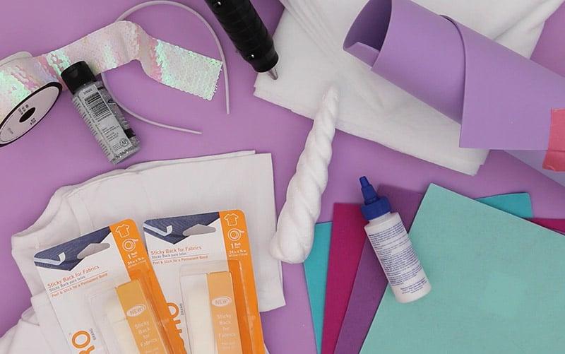 easy unicorn costume supplies