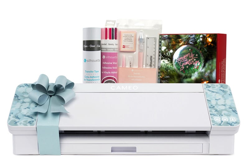 blue patterned silhouette cameo 4 with bundle items