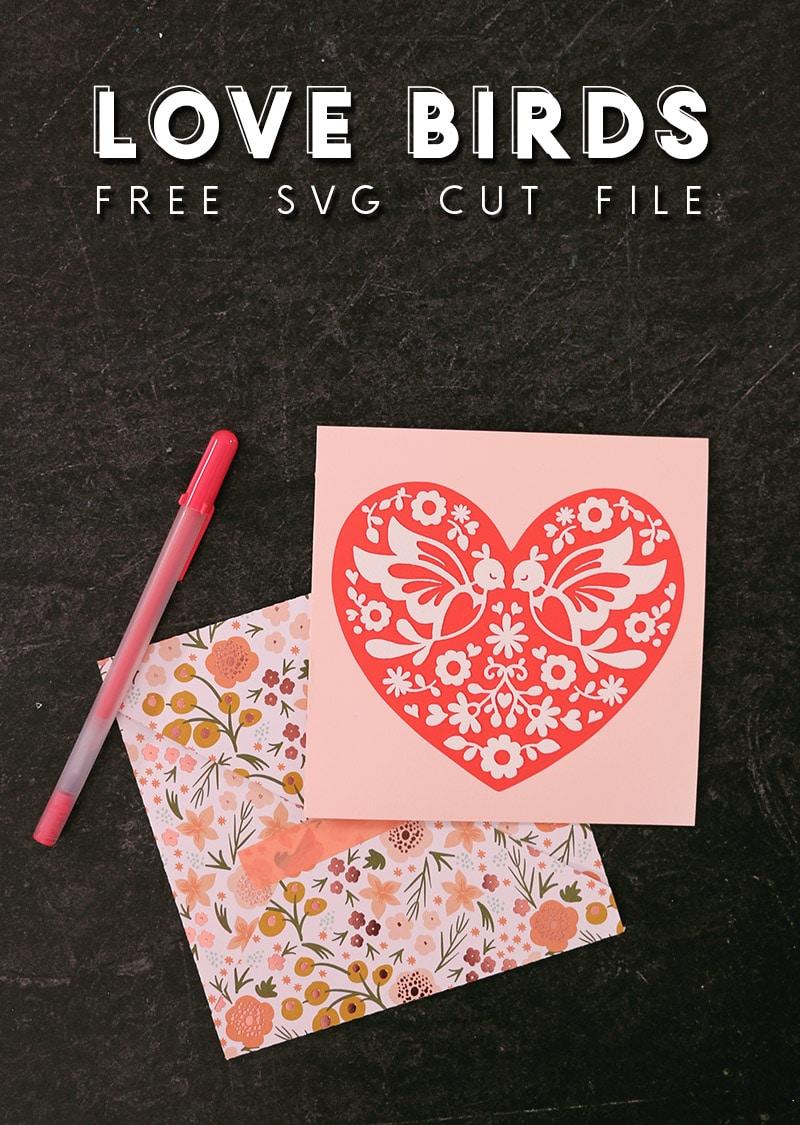 Free Love Birds Heart Svg Cut File Persia Lou