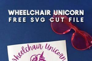 Wheelchair Unicorn Free SVG Cut File