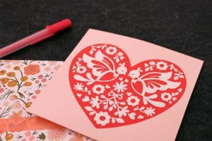 Free Love Birds Heart SVG Cut File