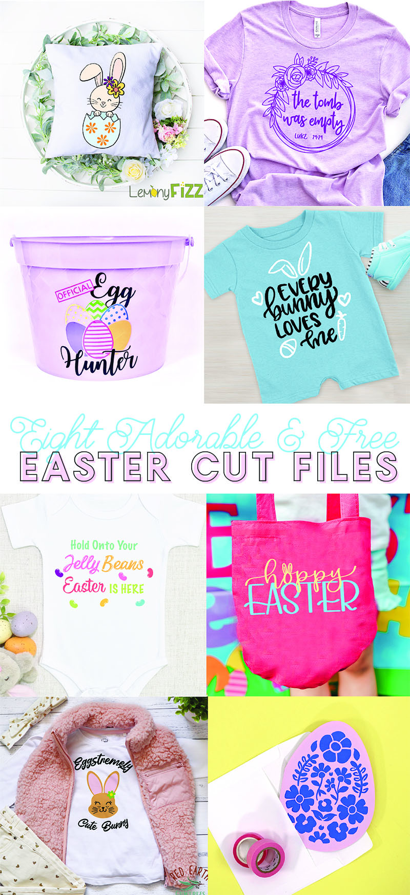 eight cute and free easter svg cut files