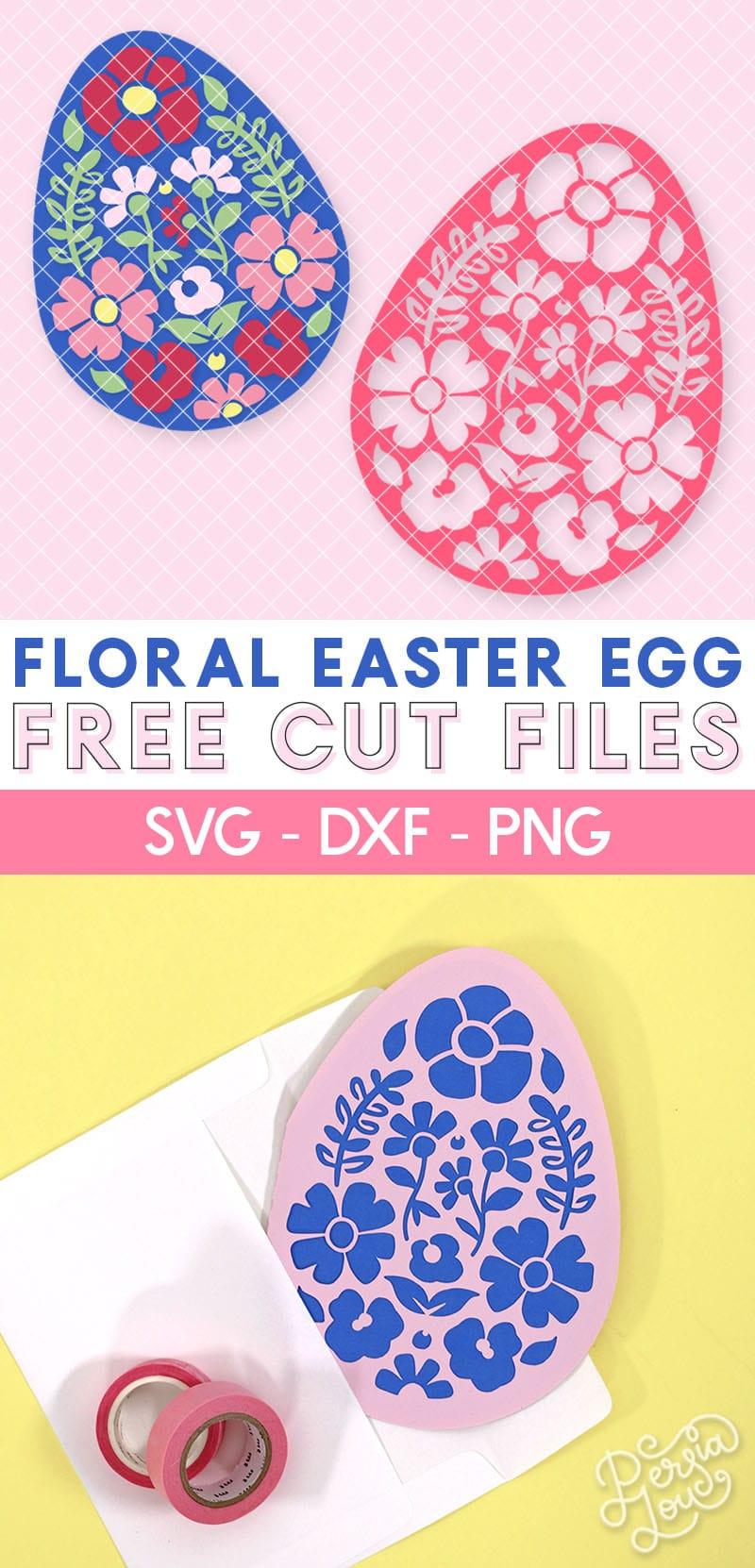 Free Floral Easter Egg Svg Cut File Diy Papercut Easter Card