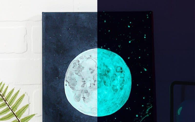 DIY Glow-In-The-Dark Moon Art Tutorial