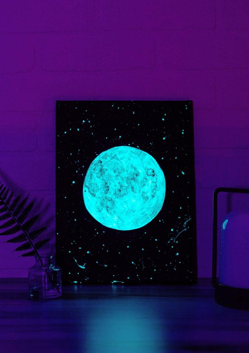 Diy Glow In The Dark Moon Art Tutorial Persia Lou