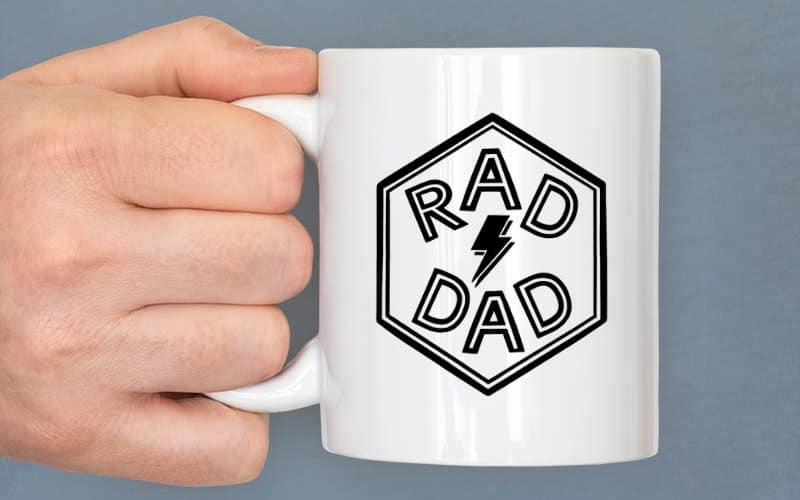 Rad Dad Free SVG Cut File for Father's Day
