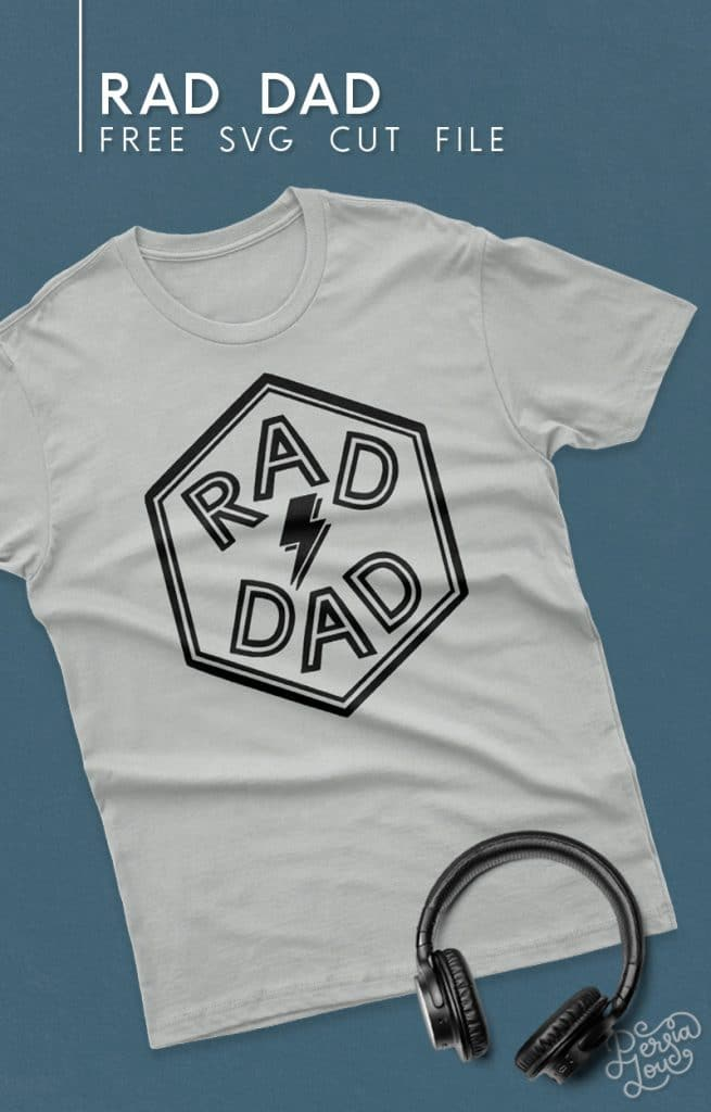 gray t shirt with rad dad svg cut file design