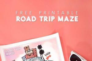 Free Printable Road Trip Maze