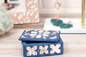 DIY Faux Bone Inlay Box