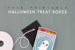 Spooktacular Printable Halloween Matchbox Treat Boxes
