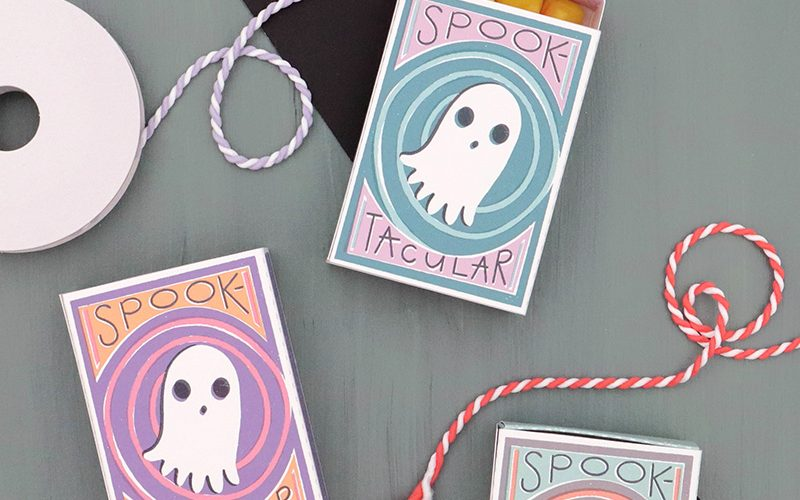 Spooktacular Printable Halloween Matchbox Treat Boxes