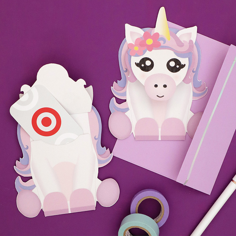 Free Printable Unicorn Gift Card Holder - Persia Lou