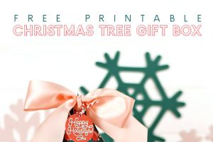 Free Printable Christmas Tree Gift Box