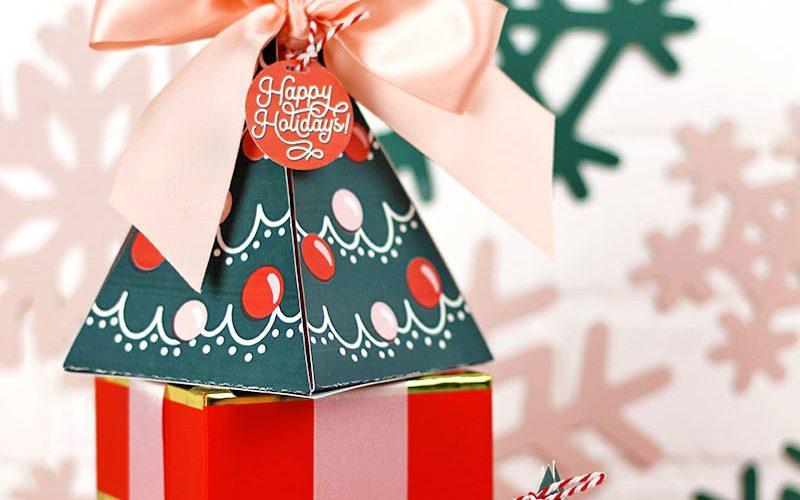 Free Printable Christmas Tree Gift Box