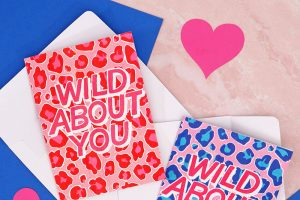 """Wild About You"" Leopard Print Cards + More Free Valentine's Printables"