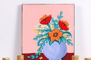DIY Floral Canvas Art with DecoArt