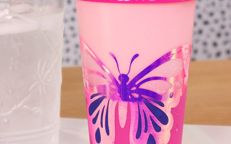 DIY Tumblers with Color Changing Vinyl