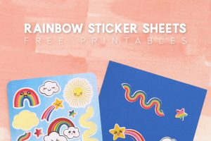 Free Printable Rainbow Sticker Sheets