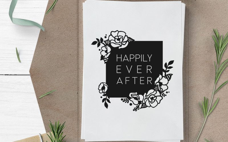 Free Happily Ever After Wedding SVG Cut File